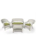 Комплект плетеной мебели из искусственного ротанга LV130 White/Green