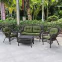 Комплект плетеной мебели из искусственного ротанга LV520BG Beige/Green