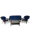 Комплект плетеной мебели из искусственного ротанга LV216 Brown/Blue