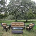 Комплект плетеной мебели из искусственного ротанга LV216 Brown/Beige