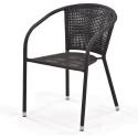 Плетеное кресло из искусственного ротанга Y137B Dark brown
