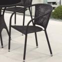 Плетеное кресло из искусственного ротанга Y137B-W51 Brown