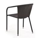 Плетеное кресло из искусственного ротанга Y137C-W51 Brown