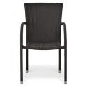 Плетеный стул из искусственного ротанга Y282A-W52 Brown