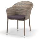 Плетеное кресло из искусственного ротанга Y375G-W1289 Pale