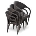 Плетеное кресло из искусственного ротанга Y290W-W2390 Brown