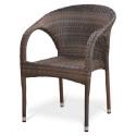 Плетеное кресло из искусственного ротанга Y290BG-W1289 Pale