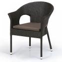 Плетеное кресло из искусственного ротанга Y97B-W53 Brown