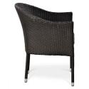 Плетеное кресло из искусственного ротанга Y350W-W2390 Brown