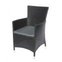 Плетеное кресло из искусственного ротанга Y189D Black