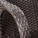 Плетеное кресло из искусственного ротанга Y90C-W2390 Brown