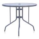 Стол для кафе D90 Silver metallic