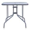Стол для кафе L80x80 silver metallic