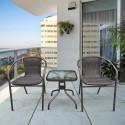Комплект мебели для летнего кафе Асоль-3B TLH-037B/055S-45х45 Brown (2+1)