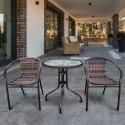 Комплект мебели для летнего кафе Асоль-1B TLH-037B/087B-D-60 Brown (2+1)