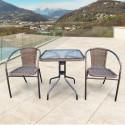 Комплект мебели для летнего кафе Асоль-2A TLH-037AR2/060SR-60х60 Cappuccino (2+1)