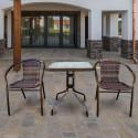 Комплект мебели для летнего кафе Асоль-2B TLH-037B/073B-60х60 Brown (2+1)