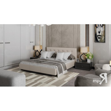 Кровать c мягкой обивкой тип 2 «Элис» (Серо-бежевый)