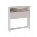 Шкаф навесной с карнизом и балюстрадой «Сабрина» СМ-307.15.002 (Кашемир)