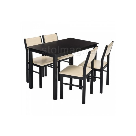 Обеденная группа Bahamas (стол и 4 стула) cappuccino / cream