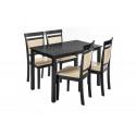 Обеденная группа Modis (стол и 4 стула) cappuccino / cream