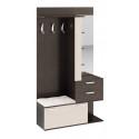 Вешалка комбинированная с крючками и зеркалом «Эрика» (Венге Цаво/Дуб Белфорт)