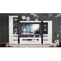 Модульная гостиная «Фьюжн» (Белый глянец/Венге Линум)