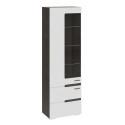 Шкаф для посуды «Фьюжн» (Белый глянец/Венге Линум)