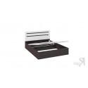 Кровать с подъемным механизмом «Фьюжн» (Белый глянец/Венге Линум)