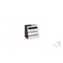 Комод с 3-мя ящиками «Фьюжн» (Белый глянец/Венге Линум)