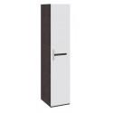 Шкаф для белья с 1-ой дверью «Фьюжн» ТД-260.07.01 (Белый глянец/Венге Линум)