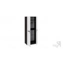 Шкаф для одежды с 2-мя дверями «Фьюжн» (Белый глянец, Венге Линум)