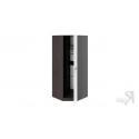 Шкаф угловой с 1-ой глухой дверью «Фьюжн» (Белый глянец/Венге Линум)