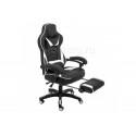 Компьютерное кресло Stimul черное / белое