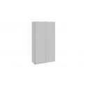 Шкаф-купе 2-х дверный «Траст» (Дуб Сонома,/Стекло Белый Глянец) СШК 2.120.60-15.15