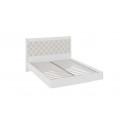 Кровать «Франческа» с мягким изголовьем (Дуб Седан/Замша)