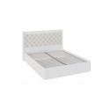 Кровать «Франческа» с подъемным механизмом и мягким изголовьем СМ-312.01.002 (Дуб Седан/Замша)