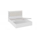 Кровать «Франческа» с подъемным механизмом и мягким изголовьем (Дуб Седан/Замша)