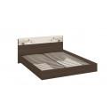 Двуспальная кровать «Мишель» (Венге Цаво/Дуб Белфорт с рисунком)