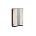 Шкаф комбинированный «Мишель» (Венге Цаво/Дуб Белфорт с рисунком)