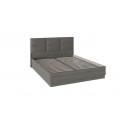 Кровать с подъемным механизмом и мягким изголовьем «Либерти» СМ-297.01.002 (Хадсон/Ткань Грей)