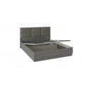 Кровать с подъемным механизмом и мягким изголовьем «Либерти» (Хадсон/Ткань Грей)
