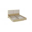 Двуспальная кровать «Николь» с мягким изголовьем СМ-295.01.003 (Бунратти/Фон Бежевый)