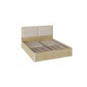 Кровать «Николь» с подъемным механизмом и мягким изголовьем СМ-295.01.004 (Бунратти/Фон Бежевый)