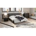 Кровать c мягкой обивкой тип 1 «Элис» (Темная)