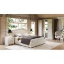 Кровать с подъемным механизмом и мягким изголовьем «Адель» СМ-300.01.11(5) (Крем)