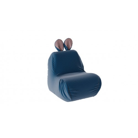 Кресло-мешок «Kids» Тип 1 Велюр Пепельно-синий