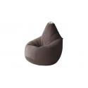 Кресло-мешок «Купер» XL Велюр коричневый, люкс