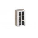 Шкаф навесной со стеклом В_72-40_1ДРс (Бежевый) 72 см
