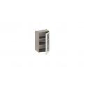 Шкаф навесной со стеклом В_72-45_1ДРс (Бежевый) 72 см